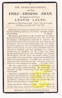 DP Emile Edm. Adam ° Wijtschate Heuvelland 1860 † 1937 Léonie Leleu - Santini