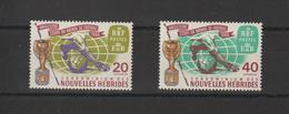 Nouvelles-Hébrides Légende Française 1966 Coupe Du Monde De Football 235-236 ** 2val. MNH - Ungebraucht
