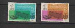 Nouvelles-Hébrides Légende Française 1966 Inauguration Siège OMS 245-246 ** 2val. MNH - Ungebraucht