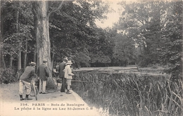 ¤¤  -  PARIS   -  BOIS De BOULOGNE   -  La Pêche à La Ligne Au Lac Saint-James  -  Pêcheurs    -  ¤¤ - Arrondissement: 16
