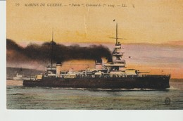 C. P. A. - MARINE DE GUERRE - PATRIE - CUIRASSE DE 1er RANG - L. L. - 29 - BATEAU - Guerre