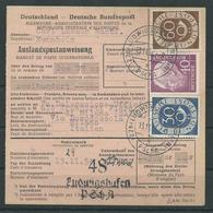 Auslandspost Anweisung über 200 DM Aus Ludwigsburg Nach Mailand Posthorn/Heuss MIF - BRD