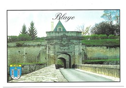 Blaye La Citadelle Porte Royale Blason Photo P. Dureau - Blaye