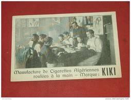 """PUBLICITE  -  CHARLEROI - Manufacture De Cigarettes Algériennes - """" Cigarettes Kiki """"  - - Publicité"""