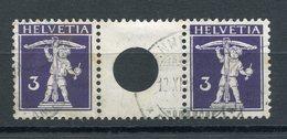 SBK S 6 (Mi Nr. WZ5A) Gestempelt - Katalogpreis Fr. 240.- - Se-Tenant