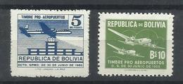 BOLIVIA YVERT AEREO 164/65   MH  * - Bolivia