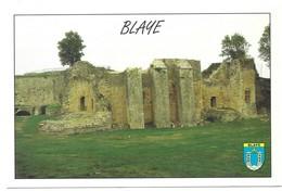 Blaye Le Chateau Des Rudel Blason Photo P. Dureau - Blaye