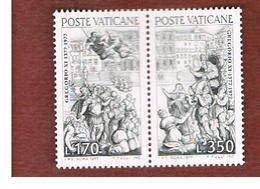 VATICANO (VATICAN) - UNIF. 616.617 - 1977 RITORNO A ROMA DI GREGORIO XI: SERIE COMPLETA IN DITTICO SE-TENANT   -  MINT** - Vatican