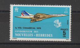 Nouvelles-Hébrides Légende Française 1976 Concorde 424 ** 1val. MNH - Nuevos