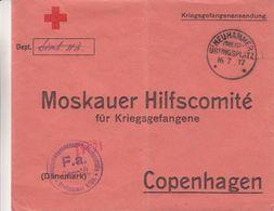 Croix Rouge - Pologne - Lettre De 1917 ° - Oblit Neuhammer En Silezie - Exp Vers Copenhagen - Avec Censure - Cruz Roja