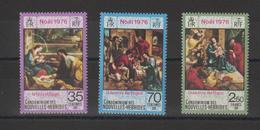 Nouvelles-Hébrides Légende Française 1976 Noel 438-440 ** 3val. MNH - Nuevos