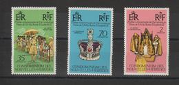 Nouvelles-Hébrides Légende Française 1977 Elisabeth II 444-446 ** 3val. MNH - Nuevos