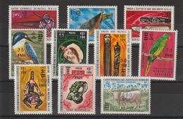 Nouvelles-Hébrides Légende Française 1977 Série Courante Surchargée (surcharge Locale) 476-485 ** 10val. MNH - French Legend