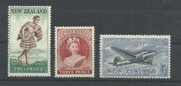 NUEVA ZELANDA YVERT 343/45  MH  * - Nueva Zelanda