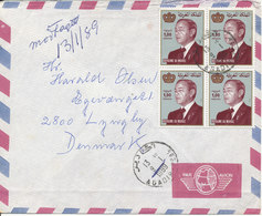 Morocco Air Mail Cover Sent To Denmark 9-1-1989 - Maroc (1956-...)