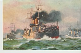C. P. A. - JAPANESE WARSHIP - OILETTE - THE JAPANESE NAVY - RAPHAEL TUCK - Guerre