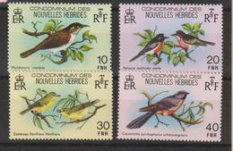 Nouvelles-Hébrides Légende Française 1979 Oiseaux 575-578 ** 4val MNH - French Legend