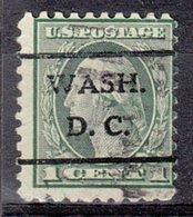 USA Precancel Vorausentwertung Preo, Locals District Of Columbia, L-4 E, Perf. 10x10 - Vorausentwertungen