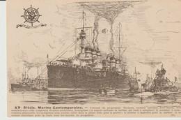 C. P. A. - XX° SIECLE - MARINE CONTEMPORAINE - CUIRASSE DU PROGRAMME THOMSON CROISEUR CUIRASSE SOUS MARIN - 20 - - Guerre