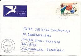 Lesotho Cover Sent To Denmark 3-10-1995 Single Franked - Lesotho (1966-...)