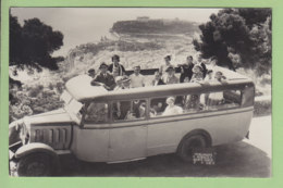 MONACO : Carte Photo, En Autocar Au-dessus De Monte Carlo, 1933. 2 Scans. - Monte-Carlo