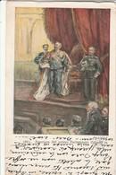 Cartolina - Postcard -  Viaggiata -   Sent  -  Apertura Del Primo Parlamento Italiano In Roma - Events