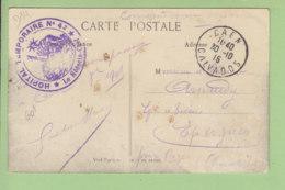 CAEN : Tampon Hôpital Temporaire N° 42, 1915. Les Remparts Du Château Et Panorama Sur La Ville. 2 Scans. Ed. MCFL - Caen