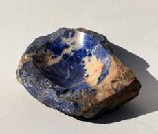 Cendrier En Sodalite - Cendrier En Pierre Véritable – Minéraux 520 Grammes - Minerali