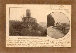CPA - Environs De PIERRE-PERCEE (54) - Et De  BADONVILLER - Aspect De La Scierie Sur La Route De Celles - 1899 - Autres Communes
