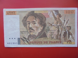 FRANCE 100 FRANCS 1982 ALPHABET P.62 CIRCULER - 100 F 1978-1995 ''Delacroix''