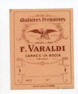 - PARFUMERIE - Matières Premières - F. VARALDI - CANNES-LA-BOCCA - - Etiquettes