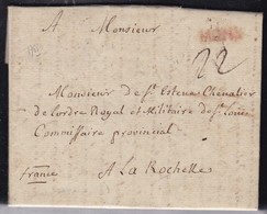 Belgique, Marques Postales - Période Autrichienne - Mons En Rouge Sur LAC De 1768 - 1714-1794 (Pays-Bas Autrichiens)