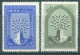 IRAN  - 1960 -  MNH/** - REFUGIATED - Mi 1075-1076 - Yv 956-957 - Lot 19037 - Iran