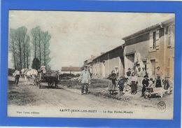 55 MEUSE - SAINT JEAN LES BUZY La Rue Herbé-Moulin, Aquarellée (voir Descriptif) - France