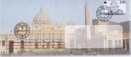 BUSTA PER INVIO COMUNICAZIONI - ANNO 2013 - PAPA RATZINGER - PIAZZA DEL VATICANO - BOLLATA - Interi Postali