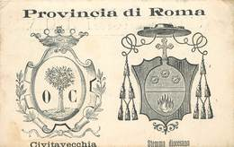 PROVINCIA DI ROMA - Emblème, Civitavecchia, Stemma Diocesano - Other