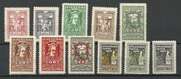 LITAUEN Lithuania 1920 Michel 76 - 86 * - Lituanie