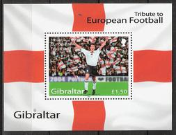 Gibraltar 2004 Tribute To European Football Mi Bloc 60, MNH(**) - Gibraltar