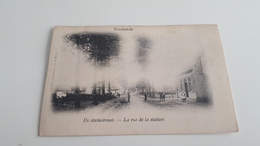 * WACHTEBEKE  La Rue De La Station Animée  Oblitéré En 1904 - Wachtebeke