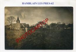 HAMBLAIN LES PRES-CARTE PHOTO Allemande-Guerre 14-18-1WK-France-62-Militaria-Feldpost- - France