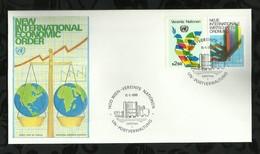NATIONS-UNIES . FDC . NOUVEL ORDRE INTERNATINAL ECONOMIQUE . 11 JANVIER 1980  . WIEN . - FDC