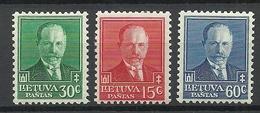 LITAUEN Lithuania 1934 Michel 391 - 393 * - Lituanie