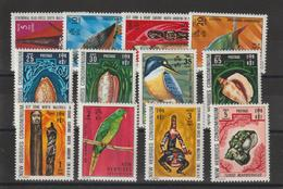 Nouvelles-Hébrides Légende Anglaise 1972 Oiseaux Et Coquillages 338-349 ** 12val. MNH - Neufs