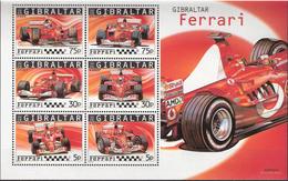 Gibraltar 2004 Ferrari Formula 1 Racing Cars Mi Bloc 64 MNH(**) - Gibraltar
