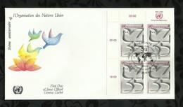 NATIONS-UNIES . FDC . 35éme ANNIVERSAIRE DE L'ORGANISATION DES NATIONS-UNIES . 26 JUIN 1980  . WIEN . - FDC