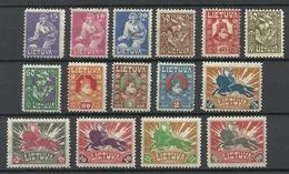 LITAUEN Lithuania 1921 Michel 87 - 101 * - Litauen