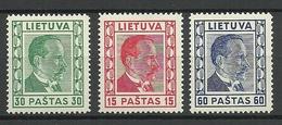 LITAUEN Lithuania 1936/37 Michel 410 - 412 * - Litauen
