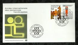 NATIONS-UNIES . FDC  . ANNEE INTERNATIONALE DES PERSONNES HANDICAPEES . 06 MARS 1981  . WIEN . - FDC