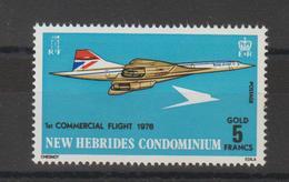 Nouvelles-Hébrides Légende Anglaise 1976 Concorde 425 ** 1val. MNH - Nuevos