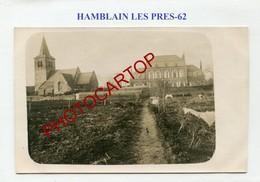 HAMBLAIN LES PRES-Lazaret-Medecine-CARTE PHOTO Allemande-Guerre 14-18-1WK-France-62-Militaria- - France